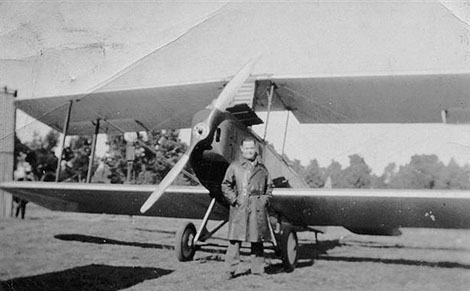 biplane with pilot